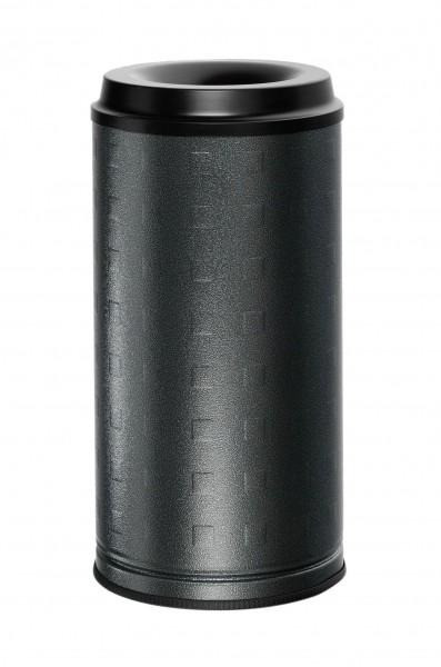 Papierkorb als Wand- oder Standgerät - Inh. 20 Liter - Aluminium