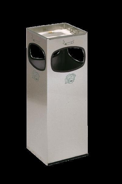 Abfallbehälter 4-fach Einwurf - Edelstahl